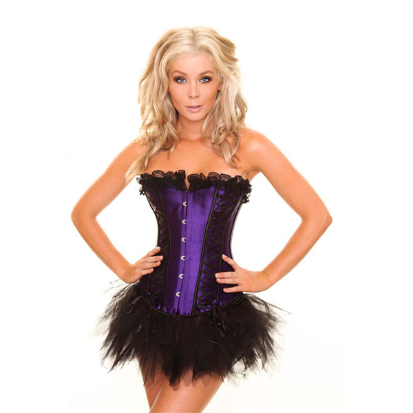 Wholesale purple corset &Pettiskirt Set CPS597