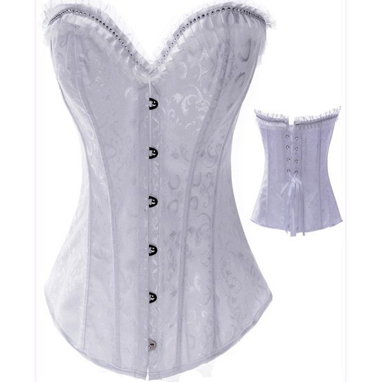 Wholesale Embroidered Diamond Corset OUC957