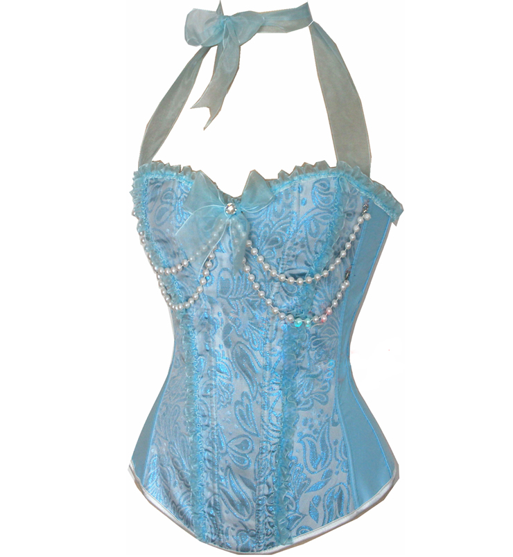 Wholesale Embroidered Peasant Top Corset OUC607