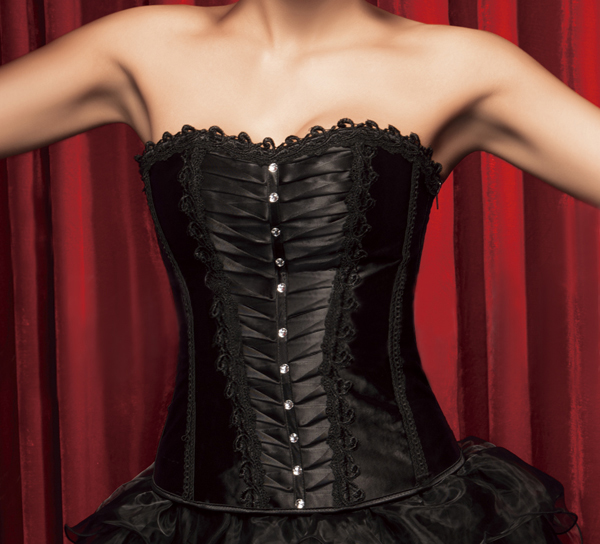 Wholesale Pleated Corset OUC701