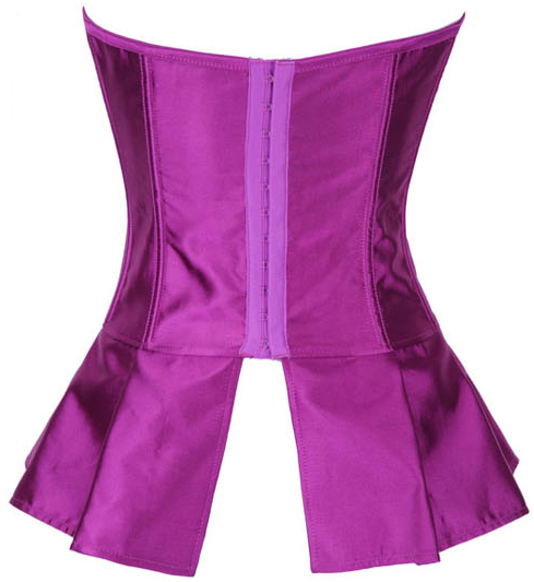 Wholesale Purple Satin Skirted Corset OUC616