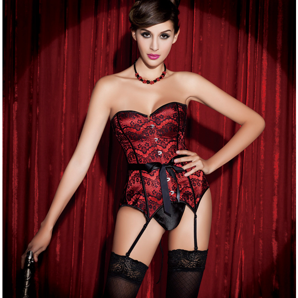 Wholesale Strapless Red Lace Fantasy Corset OUC906
