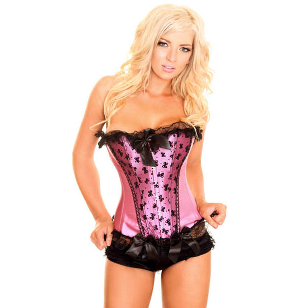 Wholesale lace trim corset OUC1077