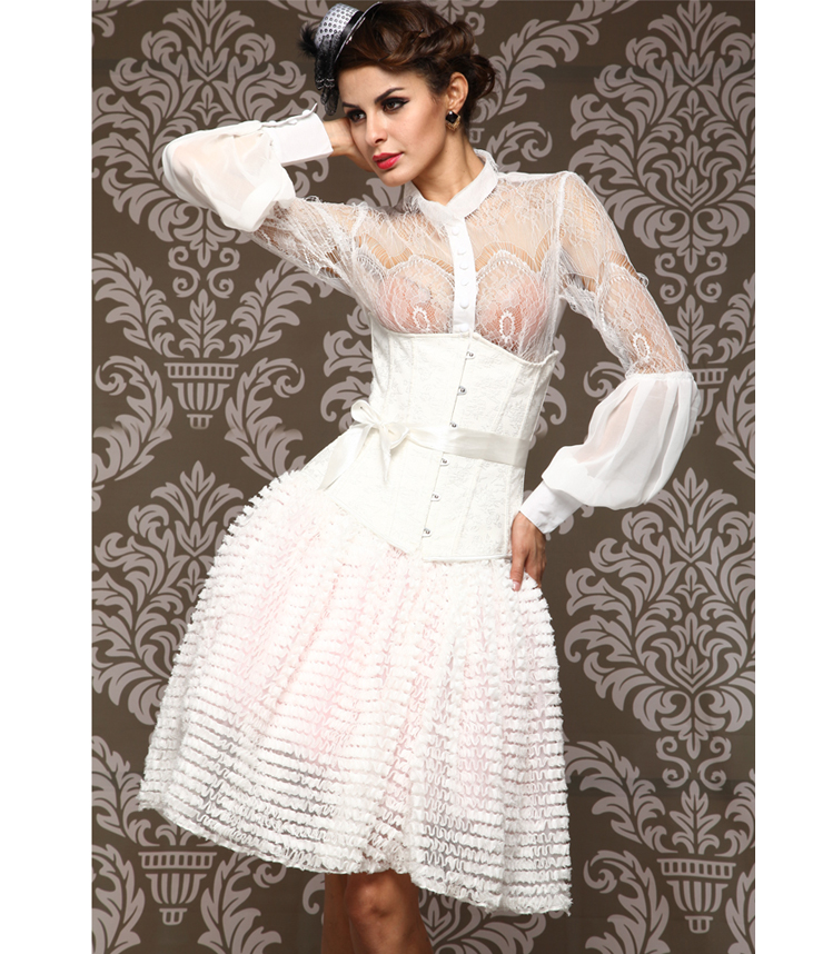 Wholesale Bridal Embroidered Underbust Corset UNC554